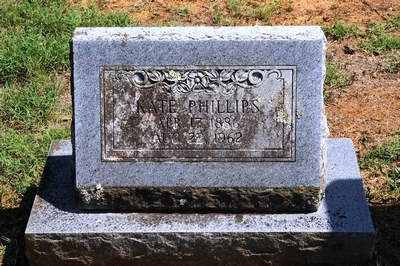 Kate Phillips Boatright Gravestone