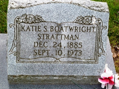 Kate Susan Warner Boatwright Gravestone: