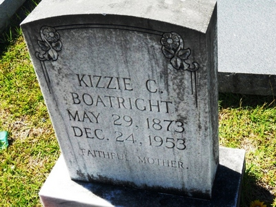 Kizzie Carter King Boatright Gravestone
