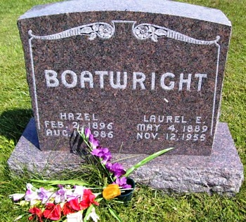 Laurel Earl Boatwright and Hazel B. Cole Gravestone