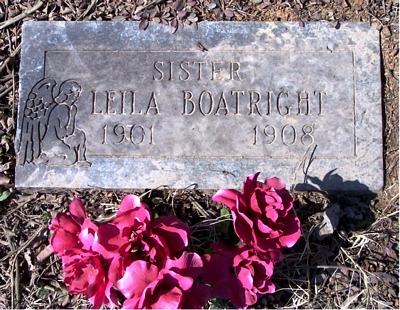 Leila Boatright Gravestone