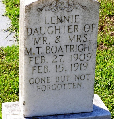 Lennie Boatright Gravestone