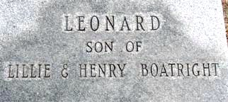 Leonard Boatright Gravestone