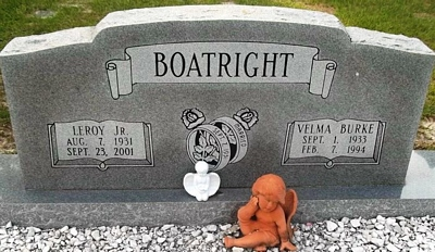 Leroy and Doris Velma Burke Boatright Gravestone