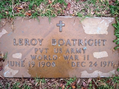 Leroy Boatright Gravestone