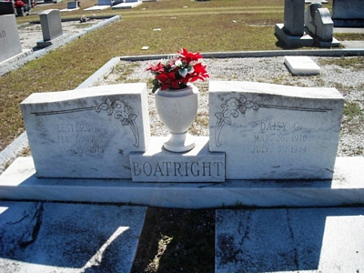 Lester Gale and Daisy Griffin Boatright Gravestone