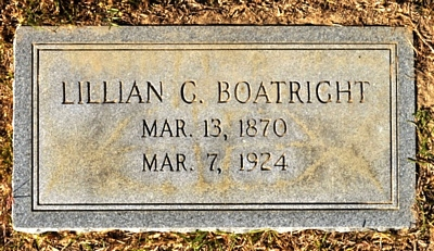 Lillian Cornelia Rogers Boatright Gravestone