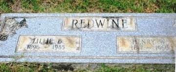 Lillie Read Boatright and Henry Whitson Redwine Marker
