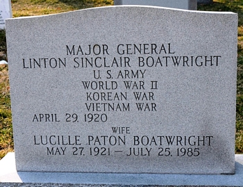 Linton Sinclair Boatwright Gravestone: