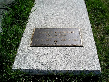 Lloyd Edward Boatright Gravestone
