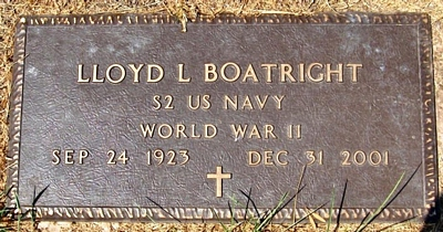 Lloyd L. Boatright Marker: