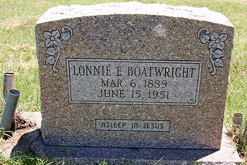 Lonnie Elias Boatwright Gravestone