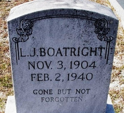 Lonnie J. Boatright Gravestone