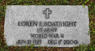 Loren Earl Boatright Gravestone