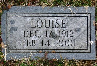 Louise Boatright Gravestone
