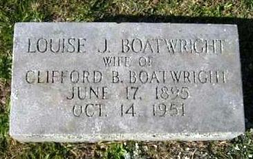 Louise Jones Boatwright Marker