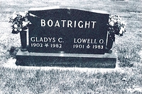 Lowell Boatright Gravestone