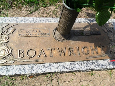 Loyd Killion and Virgie Marie Coker Boatwright Gravestone