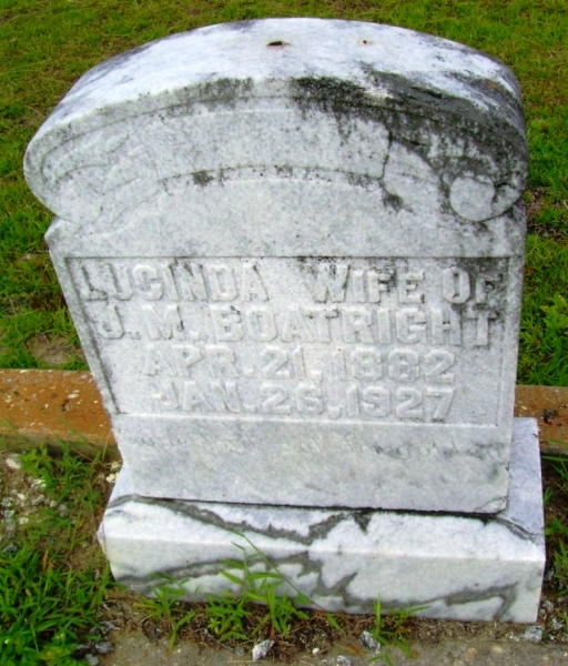 Lucinda Carter Boatright Gravestone