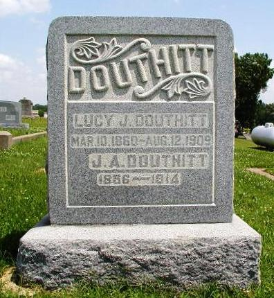 Lucy Jane Boatright and Joseph A. Douthitt Gravestone