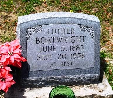 Luther Boatwright Gravestone