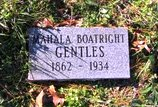 Mahala Anne Johnson Boatwright Gentles Gravestone:
