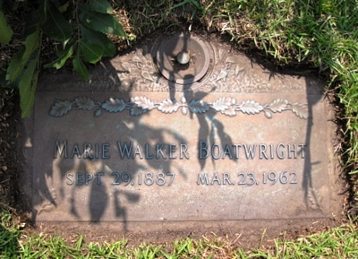 Marie Walker Boatwright Gravestone