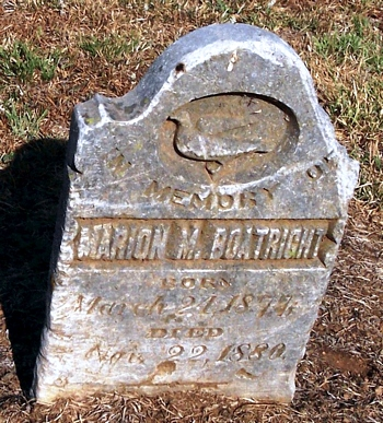 Marion M. Boatright Gravestone