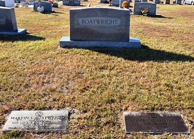 Marvin Lafayette and Clara Mae Kennedy Boatwright Gravestone