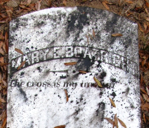 Mary Ann Tanner Boatwright Gravestone