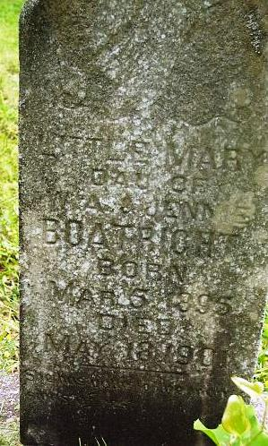 Mary Boatright Gravestone