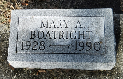 Mary Annie Cribbs Boatright Gravestone