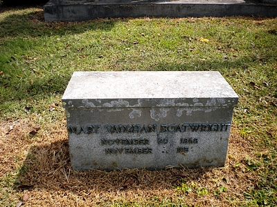 Mary Elizabeth Vaughan Boatwright Gravestone
