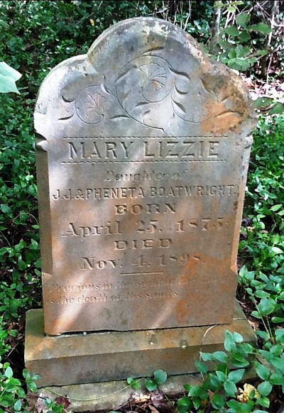 Mary Elizabeth Boatwright Gravestone