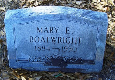 Mary Elizabeth Carter Boatwright Gravestone