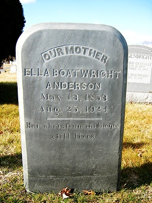 Mary Ella Boatwright Gravestone