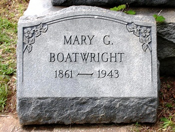 Mary Gibson Boatwright Gravestone