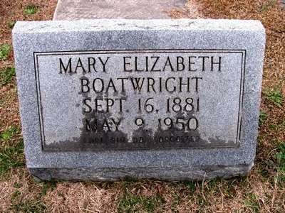 Mary Elizabeth Hennecy Boatwright Gravestone
