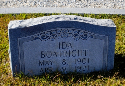 Mary Ida Boatright Gravestone