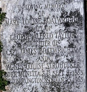 Mary Louise Boatwright Taylor Gravestone