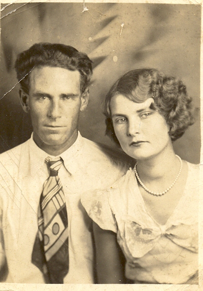 Thomas John Exendine and Mary Magdalene Boatright - 1937