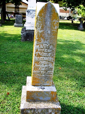 Mary Ann Netherton Boatright Gravestone: