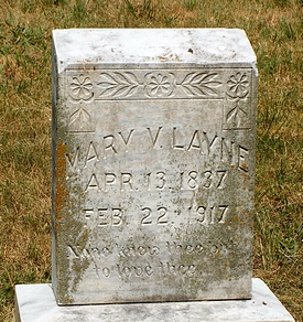 Mary Virginia Boatwright Layne Gravestone