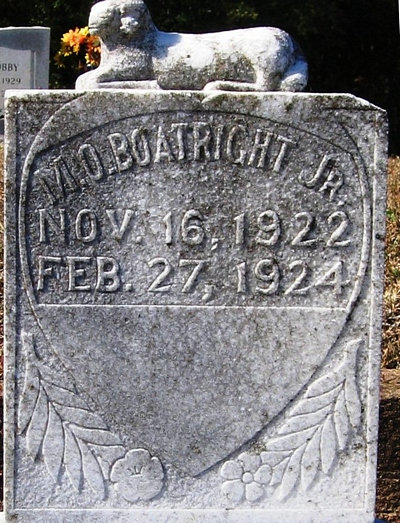 Mathew Ozra Boatright Gravestone