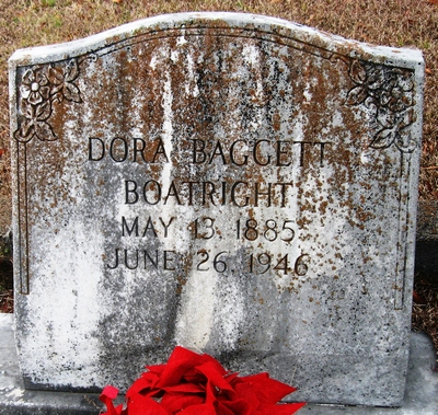 Mattie Dora Baggett Boatright Gravestone