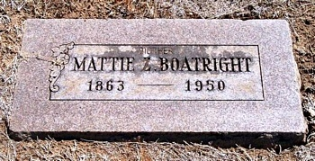 Mattie Featherston Boatright Marker