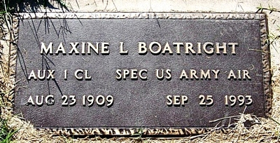Maxine L. Steele Boatright Marker