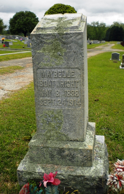 May Belle Boatwright Gravestone