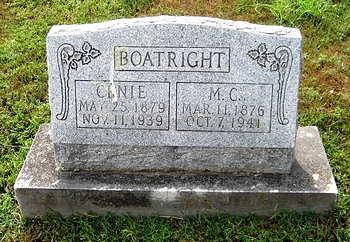 Micajah Richard and Cena Elizabeth Newberry Boatright Gravestone