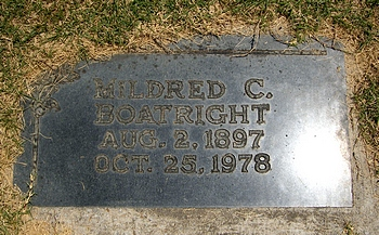 Mildred Gertrude Collins Boatright Marker